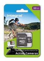Atminties kortelė Integral micro SDHC/SDXC for Action Camera Card (tested with GoPro), 32GB