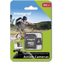 Atminties kortelė Integral micro SDHC/SDXC for Action Camera Card (tested with GoPro), 64GB