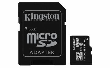 Atminties kortelė Kingston 8GB microSDHC UHS-I Class 10 Industrial Temp Card + SD Adapter