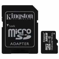 Atminties kortelė Kingston Industrial Temperature UHS-I U1 32 GB, MicroSDHC, Flash memory class 10, SD Adapter