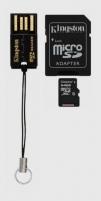 Atminties kortelė Kingston microSDXC 64GB CL10  Adapteris ir skaitytuvas
