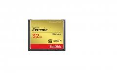 Atminties kortelė SanDisk Extreme CF 32GB UDMA7 (transfer 120MB/s)