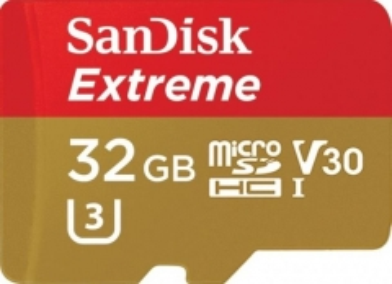 Atminties kortelė SANDISK EXTREME microSDHC 32 GB 100/60 MB/s A1 C10 V30 UHS-I U3 Mobile