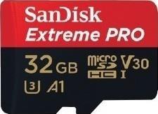 Atminties kortelė SANDISK EXTREME PRO microSDHC 32GB 100/90 MB/s A1 C10 V30 UHS-I U3
