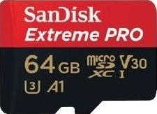 Atminties kortelė SANDISK EXTREME PRO microSDXC 64GB 100/90 MB/s A1 C10 V30 UHS-I