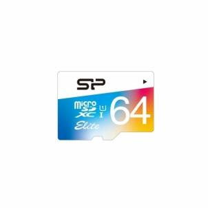 Atminties kortelė Silicon Power memory card Micro SDXC 64GB Class 1 Elite UHS-1 +Adapter