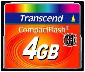 Atminties kortelė Transcend CF 4GB, Sparta iki 133x