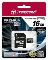 Atminties kortelė Transcend microSDHC 16GB UHS1 Adapteris