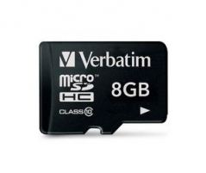 Atminties kortelė Verbatim 8GB micro SDHC CL10