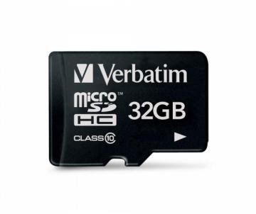 Atminties kortelė Verbatim Micro SDHC card 32GB Class 10
