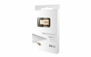Atmintinė Atmintukas ADATA DashDrive™ Series UC350 32GB USB 3.0, Auksinis