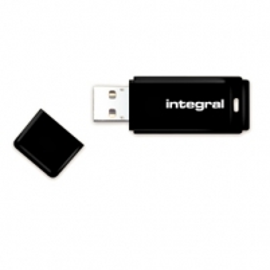 Atmintinė Integral USB 32GB Black, USB 2.0 with removable cap