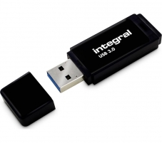Atmintinė Integral USB 64GB Black, USB 3.0 with removable cap