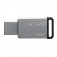 Atmintinė Kingston 128GB USB 3.0 DataTraveler 50 (Metal/Black)