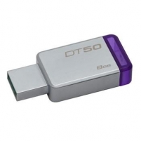 Atmintinė Kingston 8GB USB 3.0 DataTraveler 50 (Metal/Purple)