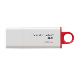 Atmintinė Kingston DataTraveler I G4 32 GB, USB 3.0, Red, White