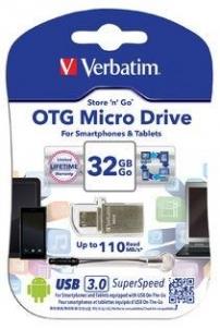 Atmintinė Verbatim USB DRIVE 3.0 OTG MICRO 32GB