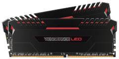 Atmintis Corsair Vengeance LED 2x16GB DDR4 3200MHz C16 - Red LED
