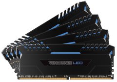 Atmintis Corsair Vengeance LED 4x8GB DDR4 3000MHz C15 - Blue LED