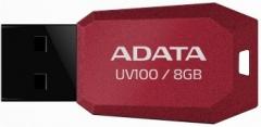 Atmintukas Adata DashDrive UV100 8GB Raudonas, Slim design: storis vos 5.8mm