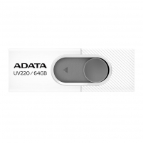 Atmintukas Adata Flash Drive UV220, 64GB, USB 3.0, white and grey