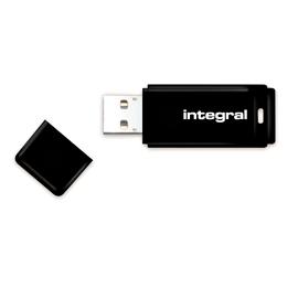 Atmintukas Integral Black 128GB USB3.0, Snap-on cap design, Juodas