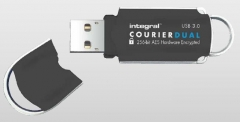 Atmintukas Integral Courier Dual 16GB USB3.0 FIPS 197 AES 256-bit enryption