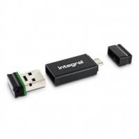 Atmintukas Integral Fusion 8GB  USB OTG Adapter, RETAIL