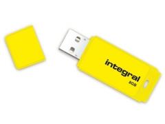Atmintukas Integral Neon 8GB, Geltonas