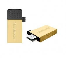 Atmintukas Transcend Mobile JF380G 32GB OTG, USB  micro USB, Auksinės spl.