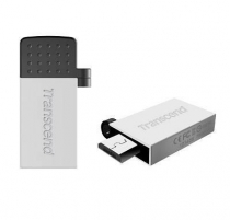 Atmintukas Transcend Mobile JF380S 16GB OTG, USB  micro USB, Sidabrinis