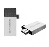 Atmintukas Transcend Mobile JF380S 32GB OTG, USB  micro USB, Sidabrinis