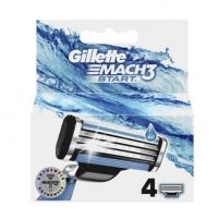Atsarginės galvutės Gillette Mach3 4 vnt Vaksācija