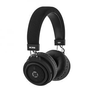 Ausinės Acme Foldable Bluetooth headset ACME BH60 Micro USB, Black, Micro USB/Bluetooth, Micro USB/Bluetooth, Built-in microphone Belaidės, bluetooth ausinės