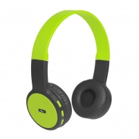Ausinės ART Bluetooth Headphones with microphone AP-B05 black/lime