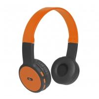 Ausinės ART Bluetooth Headphones with microphone AP-B05 black/orange