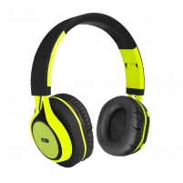 Ausinės ART Bluetooth Headphones with microphone AP-B04 black/lime