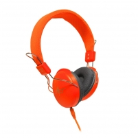Ausinės ART Multimedia Headphones STEREO with microphone AP-60MA orange