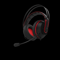 Ausinės ASUS Gaming headset CERBERUS V2 RED, 53mm Asus Essence drivers