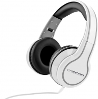 Audio/stereo ausinės Esperanza EH136W | 3m su garso reguliatoriumi