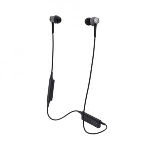 Ausinės Audio Technica ATH-CKR55BT Bluetooth, Neckband, Microphone, Black Belaidės, bluetooth ausinės