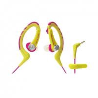 Ausinės Audio Technica ATH-SPORT1 3.5mm (1/8 inch), Ear-hook, Yellow/Pink