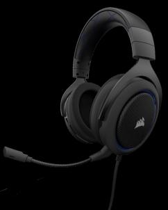 Ausinės Corsair Stereo Gaming Headset HS50 Blue (EU) Ausinės ir mikrofonai