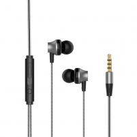 Ausinės Devia Metal In-ear Earphone with Remote and Mic (3.5mm) black