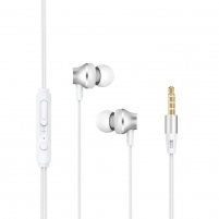 Ausinės Devia Metal In-ear Earphone with Remote and Mic (3.5mm) silver
