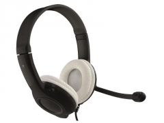 EPSILION USB - Stereo USB headphones, cable remote control with sound and mic.