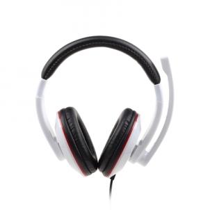 Ausinės Gembird MHS-001-GW Stereo headset 3.5 mm, Glossy white, Built-in microphone Laidinės ausinės