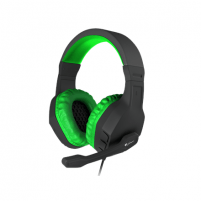 Ausinės GENESIS ARGON 200 Gaming Headset, On-Ear, Wired, Microphone, Green