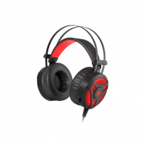 Ausinės Genesis Gaming Headset Neon 360 Stereo Built-in microphone, Black/Red, Wired