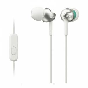 Ausinės MDR-EX110APW White Headset for Smartphone Laidinės ausinės